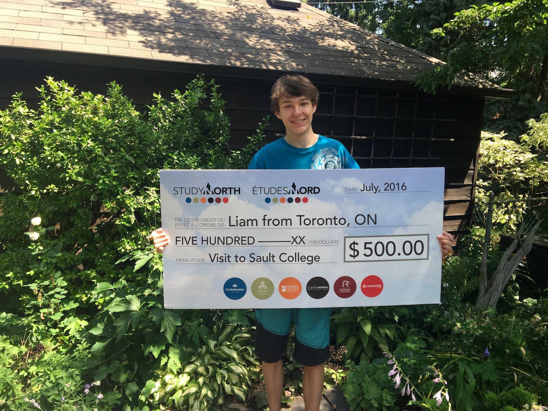 Liam SaultCollege_cheque