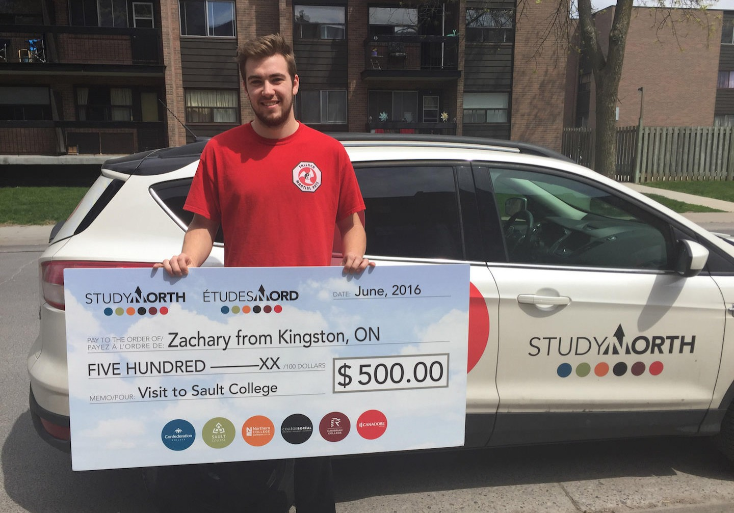 Zachary Kingston Sault College_cheque